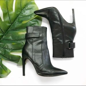 Jeffrey Campbell Black Heeled Ankle Boots